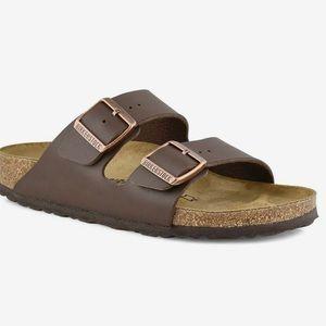 Birkenstock 38 Arizona Brown Sandals